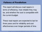 failures of parallelism