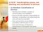 418 56 interdisciplinary group care planning and coordination of services24