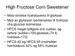 high fructose corn sweetener
