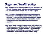 sugar and health policy