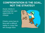 confrontation is the goal not the strategy