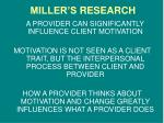miller s research