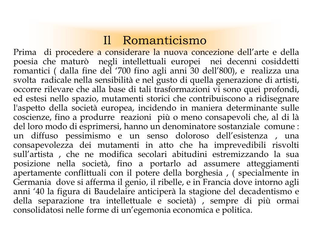 il romanticismo l.