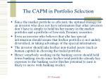 the capm in portfolio selection