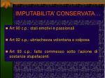 imputabilita conservata