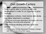 cell growth factors