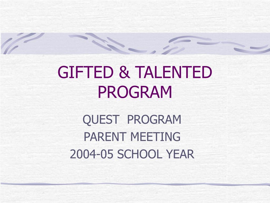 gifted talented program l.