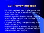3 2 1 furrow irrigation