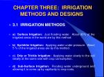 chapter three irrigation methods and designs