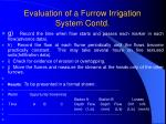 evaluation of a furrow irrigation system contd20