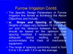 furrow irrigation contd9