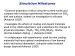 simulation milestones