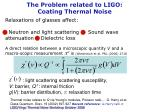 the problem related to ligo coating thermal noise