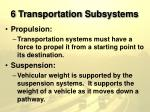 6 transportation subsystems11