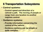 6 transportation subsystems12