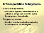 6 transportation subsystems13