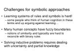 challenges for symbolic approaches30