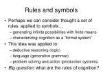 rules and symbols24