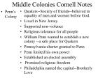 middle colonies cornell notes7