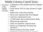 middle colonies cornell notes8