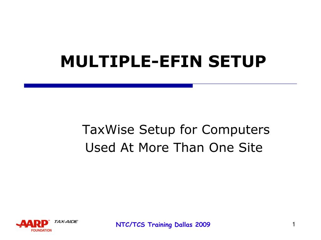 multiple efin setup l.