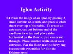igloo activity