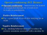operant conditioning b f skinner