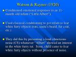 watson rayner 1920
