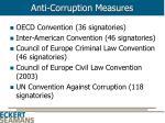 anti corruption measures