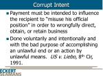 corrupt intent