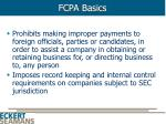 fcpa basics