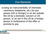 five elements7