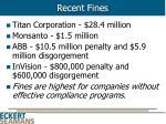 recent fines