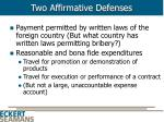 two affirmative defenses