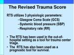 the revised trauma score