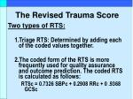 the revised trauma score13
