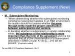 compliance supplement new