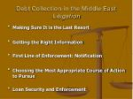 debt collection in the middle east litigation