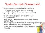 toddler semantic development