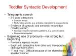 toddler syntactic development