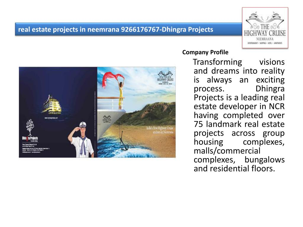 real estate projects in neemrana 9266176767 dhingra projects l.