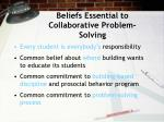 beliefs essential to collaborative problem solving