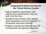 integrating problem solving into the tiered delivery system