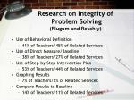 research on integrity of problem solving flugum and reschly