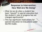 response to intervention how well are we doing24