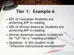 tier 1 example a