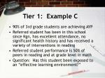 tier 1 example c