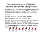 what is the impact of psm rti on students from diverse backgrounds