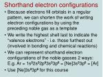 shorthand electron configurations3