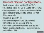 unusual electron configurations